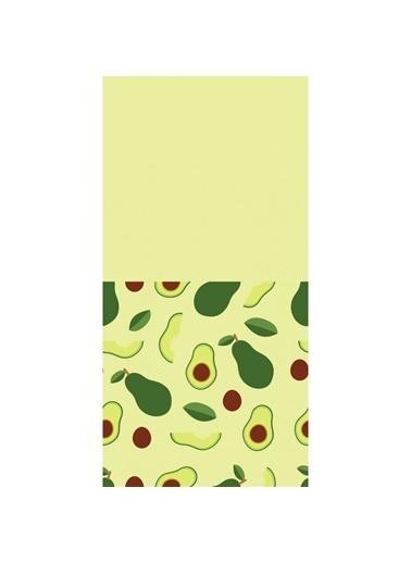 Artikel Yeşil Avokado Desenli Dekoratif Çift Taraflı Yastık Kırlent Kılıfı 45x45 cm Renkli